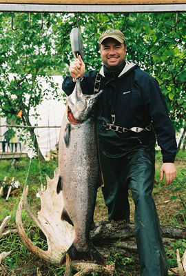 nushagak river king salmon caught while fishing with a guide from our fishing lodge on alaska's nushagak river